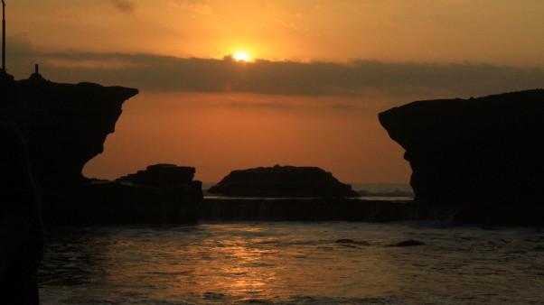 Senja cantik di Tanah Lot, Bali